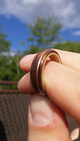 Wooden Ring with Silver Inlay