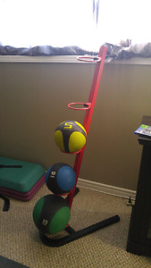 Medicine ball rack (balls not included)