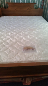 2 queen pillow top mattresses and 1 box spring for $50 each