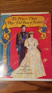 Vintage Princess Diana and Charles cut out dolls