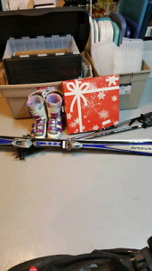Women's Ski Boots, Skis and Poles