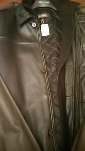 Nouveau Manteau Cuir DANIER New Leather Coat - Homme TG/Mens XL