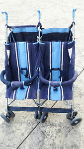 Double Twin Umbrella Stroller Lightweight Excellent Condition