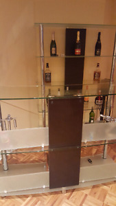 Glass bar with back (2 pieces)