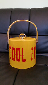Bar Style Colorful Ice Bucket from the 70's