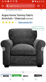 Tammy charcoal single arm chair