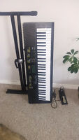 CASIO KEYBOARD w/ STAND, CHAIR AND PEDAL