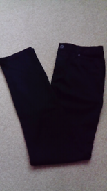 2 PAIRS OF BOYS BLACK SCHOOL TROUSERS AGE 14 YEARS