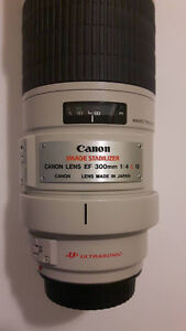 Canon 300 EF F4 L series Lens - IS Prince George British Columbia image 1