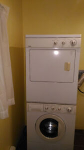 Kenmore compact stacking washer (needs repair) and dryer (works)