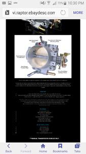 alpha series throttle body,alpha half rad RC 440cc injectors