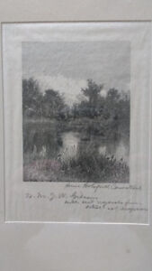 Rare Signed Engraving - Anna Botsford Comstock North Shore Greater Vancouver Area image 3