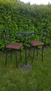 High table with 2 chairs- Indoor or Outdoor Patio