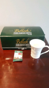 New - Belleek Claddagh 2-Piece Mug Set