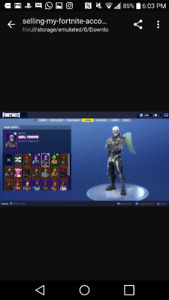 Fortnite account for sale includes skull/ghoul trooper etc...