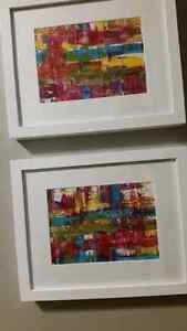 Brand new art. Abstract and unique. Local artist. Framed Kitchener / Waterloo Kitchener Area image 1
