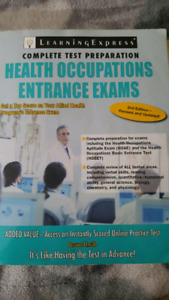 Complete test preparation for health occupation enterence exam