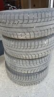 Michelin X ice winter tires ONLY 215/65R16
