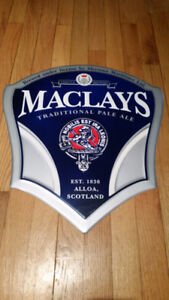 Maclays Traditional Pale Ale - Metal Beer Sign