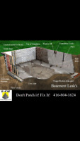 Foundation crack repair and epoxy