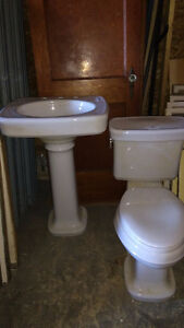 Toilet and pedestal sink combo