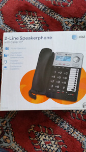 At&t 2 line speakerphone with caller ID