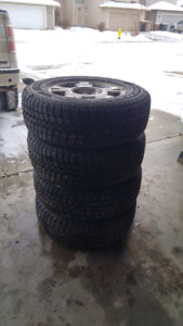 LT 245/70 R17 winter tires with rims