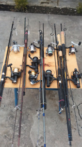 Lignes a Peche Moulinets Cannes Rods Reels Fishing Lines