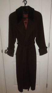 Manteau d'Hiver Femme/Wool and Angora Winter Coat size 10