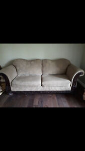 Comfy couch and two armchairs
