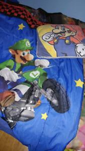 Ensemble douillette Mario Bross lit jumeau