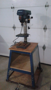 Drill Press on moveable stand.
