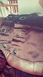 Curtains and leather purses