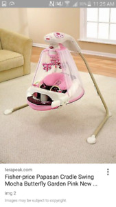 Super cute baby swing