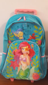 Rolling Backpack Disney Little Mermaid Ariel With Lunch Box
