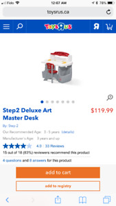 Step2 Deluxe Art Master Desk with chair and light