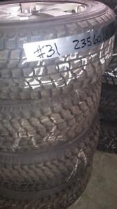 4 pneus d'hiver usagé 235 60 18, 235-60-r18