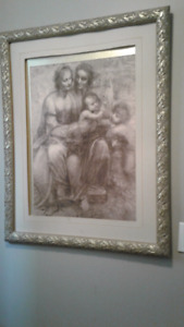 Large picture with beautiful gold detailed frame