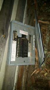 Breaker panel and switches