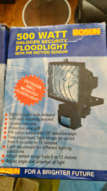 500w halogen security lights X2 unused still in box with PIR