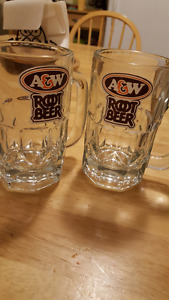 Two A&W Root Beer Mugs $25
