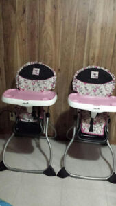 High Chair and Toy Storage - Minnie Mouse