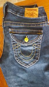 True religion womans jeans size 28