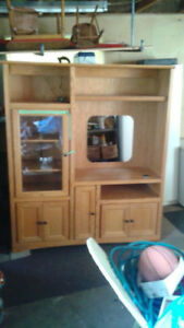 Wall unit, entertainment Center, $50.00, Must pickup.