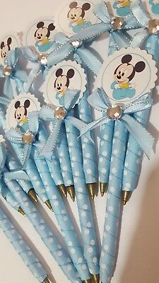 12 pcs Baby shower pens favors for boy (Mickey  Mouse)](Baby Showers For Boys)