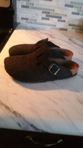 Wool  Birkenstock Clog Sandals