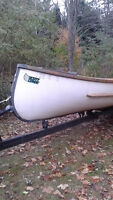 24' James Bay Freighter Canoe with Trailer
