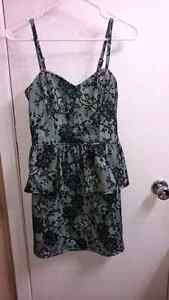 Mint green and black lace plenum dress Peterborough Peterborough Area image 1