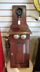 Antique Northern Electric Fiddle Back Wall Phone