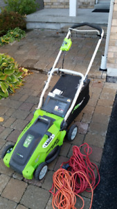 """GreenWorks Electric Lawnmower 16"""" 